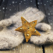 Stars with mittens wallpaper