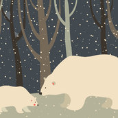 Polar bear in the forest wallpaper