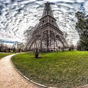 Eiffel Tower - Quai Branly - North Eiffel pillar Tower(France)