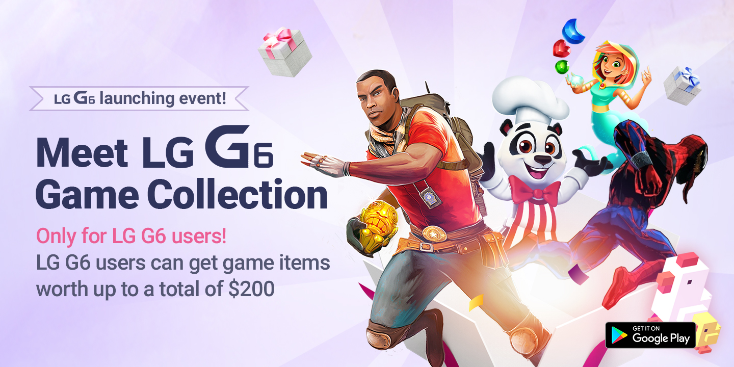 [LG G6 users can get game items worth up to a total of $200]